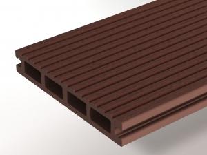 Террасная доска WOODVEX Select Темно-коричневый