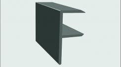 Торцевой F-профиль ДПК SaveWood 4 м Черный