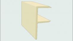 Торцевой F-профиль ДПК SaveWood 4 м Бежевый